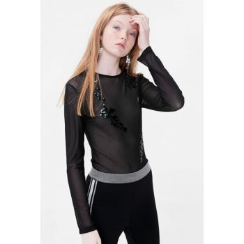 Women's Black Blouse TS1190006113