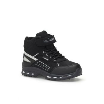 Black Silver Unisex Kids Boots DS.1667