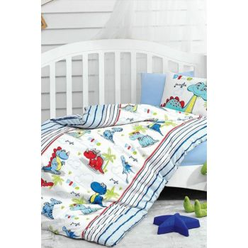 Cotton Box Baby Duvet Cover Set - Dino Blue c210
