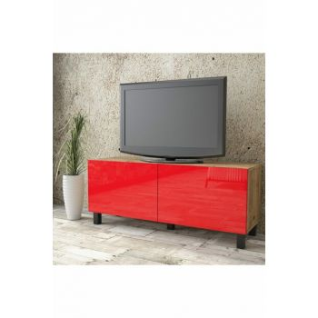 Aqua Tv Unit High Gloss 120cm 2 Cover Red AU2-A1B-RR 1286493