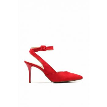 Red Women's Classic Heeled Shoes 01AYH144200A750