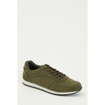 Men's Khaki Lace-Up Sports Shoes M1110AZ.19AU.KH3