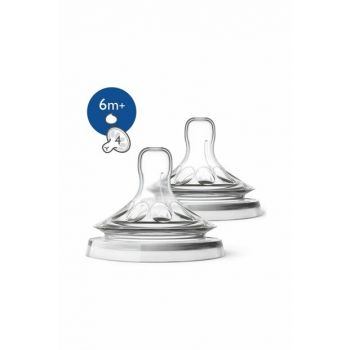 Philips Avent SCF 046/27 Natural Feeding Bottle Nipple 6M + 2PCS 8710103874140
