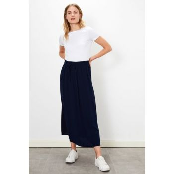 Women's Navy Blue Skirt 9SC486Z8