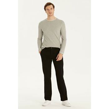 Men's New Black Trousers 9W1022Z8