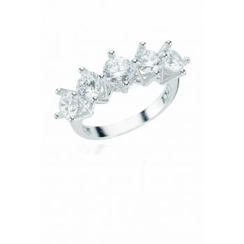 Women's Silver Five Stones Ring DT0215