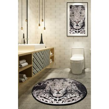 Diameter 140 Tiger Digital Bath Mat, Doormat 8682125928944