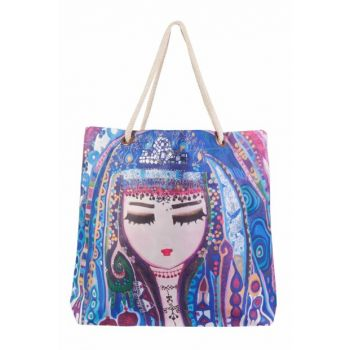 Blue Water Beach Bag by Canan Berber BGD100340205