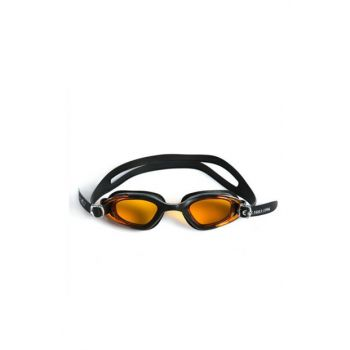 Cosfer CSF-GS3SS (Black-Yellow) Silicone Swimmer Goggles Transparent Custom Box CSFGS3SS