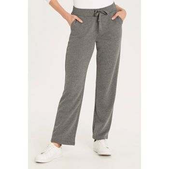 Women's Anthracite Melange Trousers 9W2408Z8