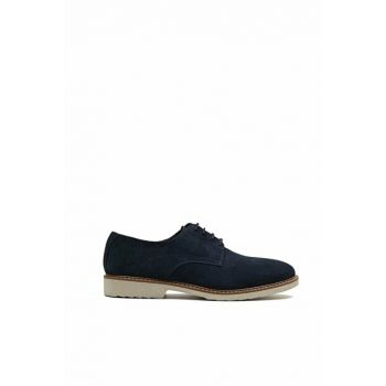 Genuine Leather Blue Men Casual Shoes 02AYH133210A600