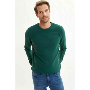 Men's Green Basic Slim Fit Pullover L1434AZ.19WN.GN111