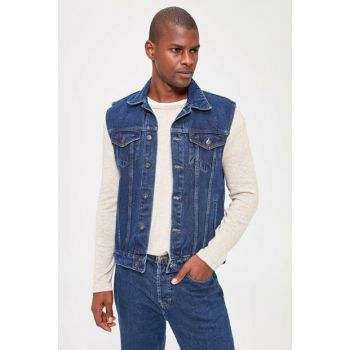 Indigo Men's Denim Vest TMNAW20YE0011