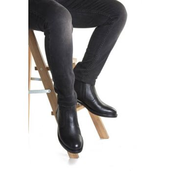 Genuine Leather Black Men Boots DPRMGMHSN027