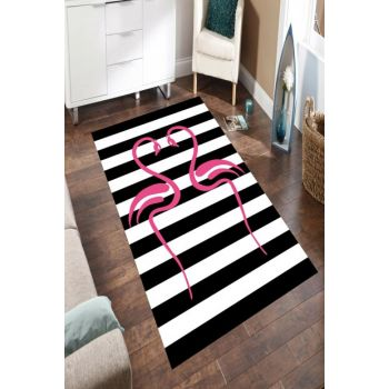 Lovers Flamingo Patterned Digital Printed Carpet RSP001595