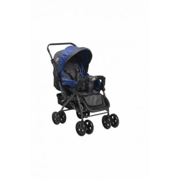 Aldeba 8028 Two Way Baby Carriage - Blue / 3763