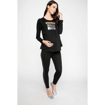 Maternity Elastic Waist Slim Fit Pants K0119AZ.18WN.BK27