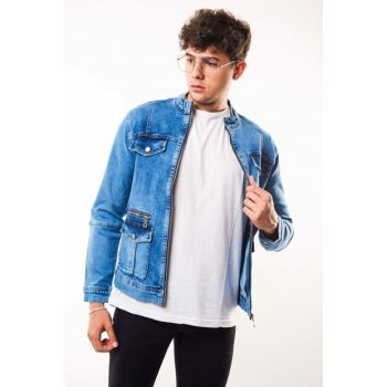 Safari Washed Blue Men's Denim Jacket - d10979