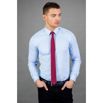 Men's Blue Dobby Shirts - MD17004-531