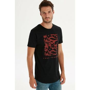 Men's New Black T-Shirt 9WR206Z8