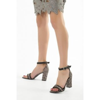 Powdered Snake Women's Heeled Shoes 12541