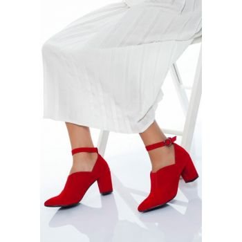Red Suede Women High Heels Shoes LDS6040