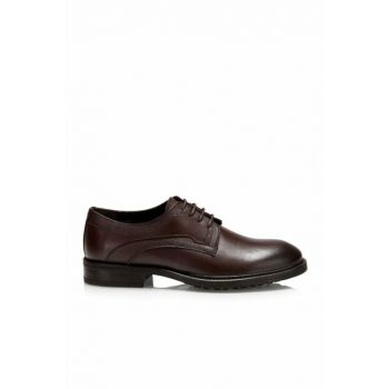 Genuine Leather Coffee Men Classic Shoes 02AYH124330A480