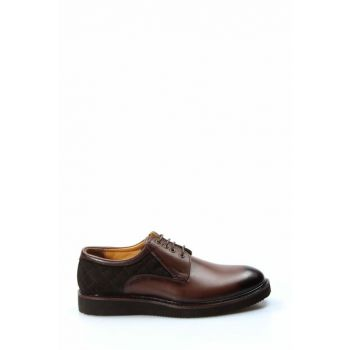 Genuine Leather Brown Men Classic Shoes 1848956