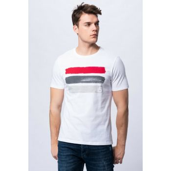 Men's T-shirt - 3 Brush TEE - V-MTT903-WT