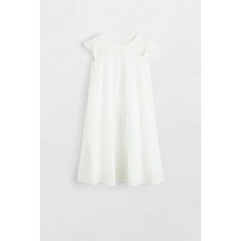 Off White Girl Children Embroidered Woven Dress 53070723