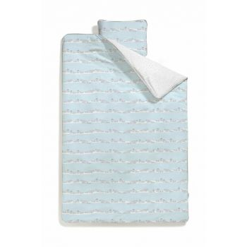 Ribbon Seal Blue Baby Duvet Cover CRCDLY011