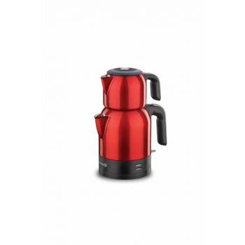 A359-05 Korkmaz Demkolik Red / Black Electric Tea Pot