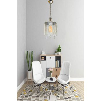 Rosa Single Case Chrome Chandelier with Stone 901 0323 00 051
