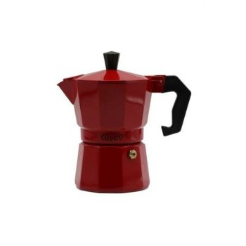 Tasev Piccolo Moka Pot 3 Cup Red T1192