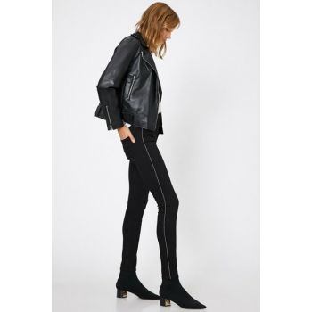 Women Black Carmen Jean Pants 0KAK47306MD
