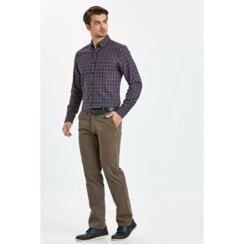 Men's Brown Trousers 8W0887Z8