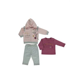 PENYE HOODED CARDIGAN 3-PIECE (LITTLE BIRD) K 2271
