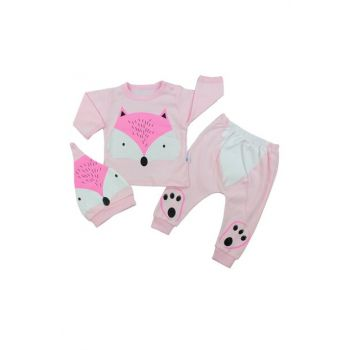 Light Pink Fox Pink Baby Girl 3 Pieces Set AF90187P
