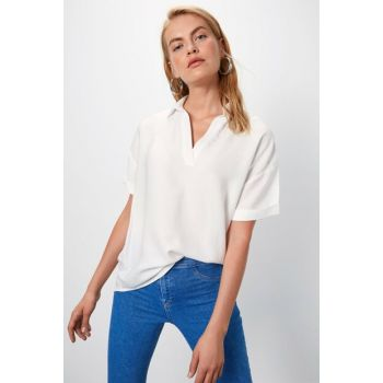 Women's White Blouse 9WO253Z8
