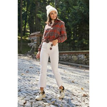 White Ankle Boot Trotter Jeans 20KPA443K128