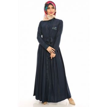 Women's Navy Blue Dress 00218YBTRN01026