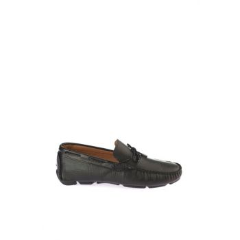Black Men's Loafer Shoes 02AYH146710A100