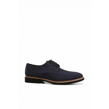 Genuine Leather Navy Blue Men Shoes 02AYH138390A680