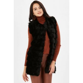 Women's Gnarled Plush Vest - Black 250-9KB1001YLK