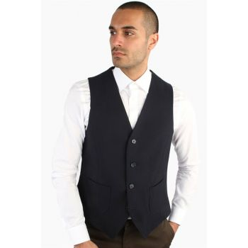 ANTHRACITE STRAIGHT MEN VEST - SLIM FIT - DU2184210001