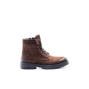 Genuine Leather Men Coffee Boots 19WFD3473V3