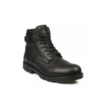 Genuine Leather Black Men Boots 186 5632M