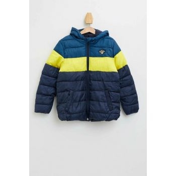 Color Block Hooded Coat K8489A6.19AU.IN101