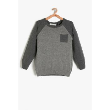 Gray Boy Sweater 9KKB96298GT