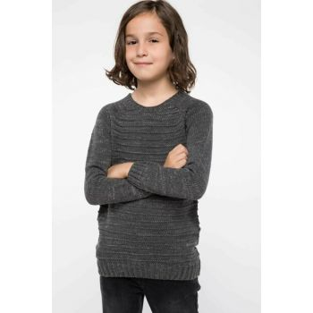 Gray Boys Sweater Pullover I9102A6.18AU.GR228